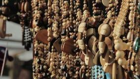 Kleurrijke traditionele etnische verkochte juwelen stock video