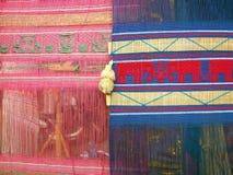 Kleurrijke traditionele vlag in noordelijk van Thailand Stock Foto