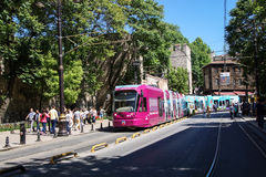 Kleurrijke tram Stock Foto