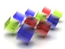Kleurrijke Transparante Kubussen Stock Afbeelding
