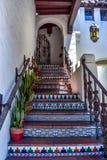Kleurrijke trap in carmel-door-de-Overzees Stock Afbeeldingen