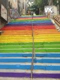 Kleurrijke treden Stock Foto's