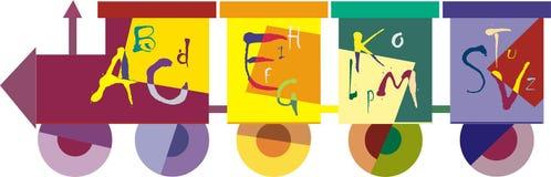 Kleurrijke trein vector illustratie