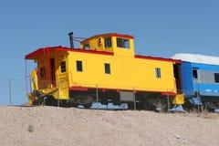 Kleurrijke treinen Stock Foto's
