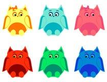 Kleurrijke uilen Royalty-vrije Stock Fotografie