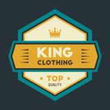 Kleurrijke Uitstekende Hipster Logo Design Template Vector Royalty-vrije Stock Afbeelding