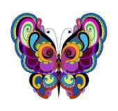 Kleurrijke uitstekende vlinder Royalty-vrije Stock Afbeeldingen