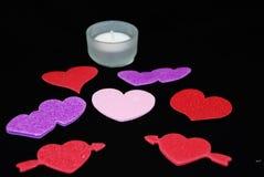Kleurrijke valentijnskaartenharten Stock Afbeelding