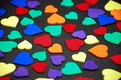 Kleurrijke valentijnskaartharten Royalty-vrije Stock Afbeeldingen