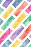 Kleurrijke van de Pastelkleurwaterverf Textuur Geschilderde Bakstenen Als achtergrond vector illustratie
