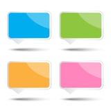 Kleurrijke vector vierkante bellentoespraak Royalty-vrije Stock Foto's