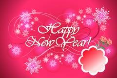 Kleurrijke vectorachtergrond voor gelukkige nieuwe jaarviering - eps10-illustratie Stock Afbeelding