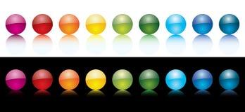 Kleurrijke vectororbs Stock Foto
