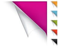 Kleurrijke vectorpagina gekrulde hoeken stock illustratie