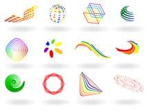 Kleurrijke vectorpictogrammen Stock Foto's
