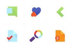 Kleurrijke Vectorpictogrammen voor Apps Stock Afbeeldingen