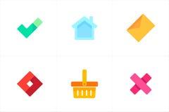 Kleurrijke Vectorpictogrammen voor Apps Royalty-vrije Stock Afbeelding