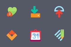 Kleurrijke Vectorpictogrammen voor Apps Stock Fotografie