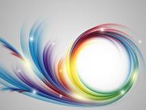Kleurrijke vectorregenboogachtergrond Stock Afbeelding