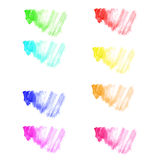 Kleurrijke vectorwaterverf Stock Afbeelding