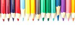 Kleurrijke Veelkleurig van Potlood Stock Afbeelding