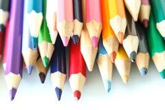 Kleurrijke Veelkleurig van Potlood Royalty-vrije Stock Foto's