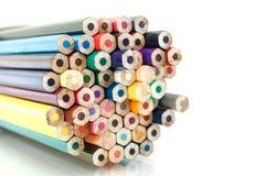 Kleurrijke Veelkleurig van Potlood Stock Afbeeldingen