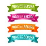 Kleurrijke 100% veilige linten Eps10 Vector Royalty-vrije Stock Afbeelding