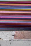 Kleurrijke veiligheidspoort Stock Foto's