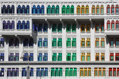 Kleurrijke vensters Stock Foto