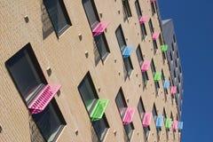 Kleurrijke vensters, de Stad van Leeds stock afbeeldingen