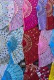Kleurrijke Ventilators Stock Foto