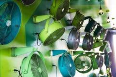 kleurrijke ventilators bij Wynwood-Muren in Miami Florida royalty-vrije stock afbeelding