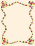 Kleurrijke verdraaide suikergoedgrens vector illustratie
