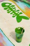 Kleurrijke verf Stock Foto