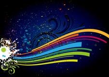 kleurrijke verf en golf Stock Fotografie