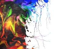 Kleurrijke verfachtergrond Stock Afbeeldingen