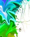 Kleurrijke verfachtergrond Stock Afbeelding