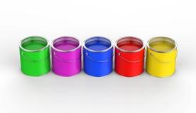 Kleurrijke verf Royalty-vrije Stock Foto's