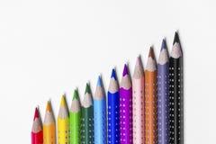 12 kleurrijke verfpennen Stock Fotografie
