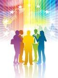Kleurrijke vergadering Stock Foto's