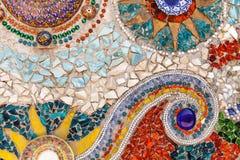 Kleurrijke verglaasde tegel Stock Afbeeldingen