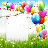 Kleurrijke verjaardagsachtergrond Stock Foto