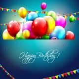 Kleurrijke verjaardagsachtergrond Royalty-vrije Stock Foto's