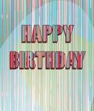 Kleurrijke verjaardagskaart Stock Foto