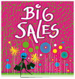 Kleurrijke verkoop Stock Afbeelding