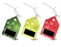 Kleurrijke verkoopprijskaartjes met het knippen van weg Stock Afbeeldingen