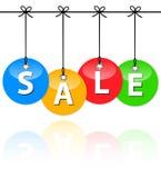 Kleurrijke verkoopsnuisterijen Stock Fotografie