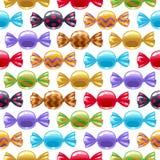 Kleurrijke verpakte suikergoedachtergrond Stock Afbeelding