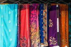 Kleurrijke verschillende Sari royalty-vrije stock foto's